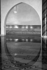 Casablanca, Morocco (danshill) Tags: pool mirror king arch sony arches mosque morocco tiles ii inside casablanca hassan a200 refelction blackwhitephotos