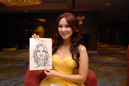 Caricature live sketching for The DPH Sunflower Ball 2010 -6