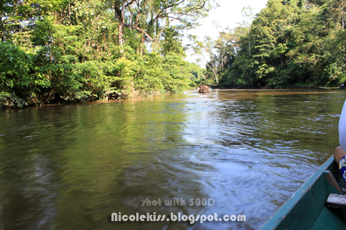 longboat riding on river