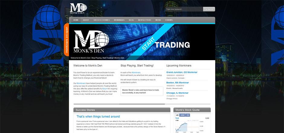 Monk's Den Website Redesign