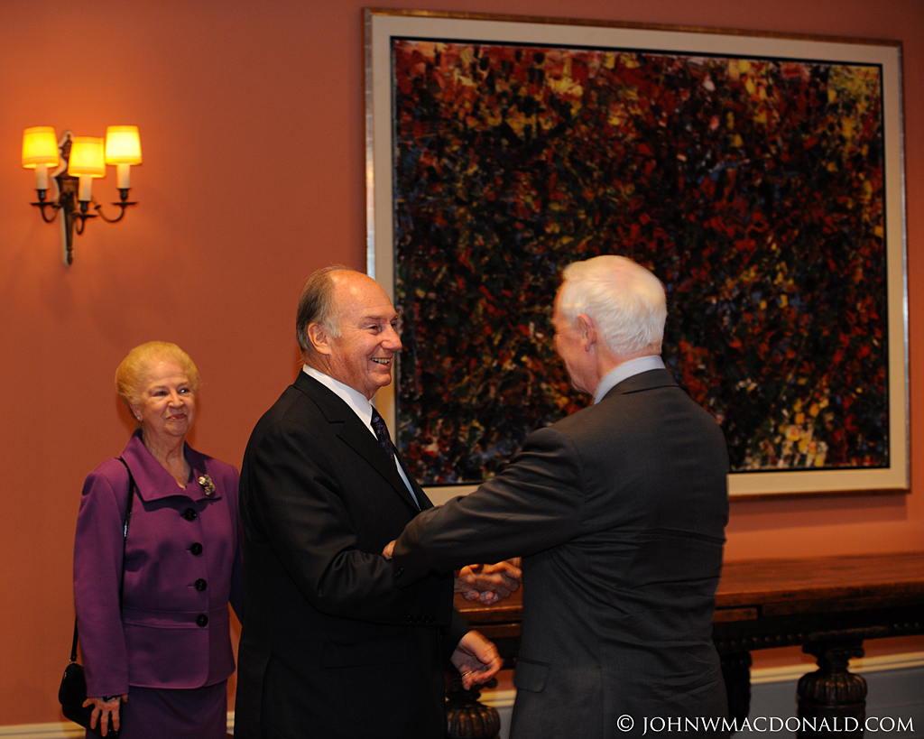 Governor General Welcomes His Highness the Aga Khan at Rideau Hall 6189