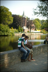Romantic Couple near the Reie water, Bruges (c)Michel Vaerewijck (visitflanders) Tags: water europe belgium bruges flanders heartofeurope reie romanticcouple