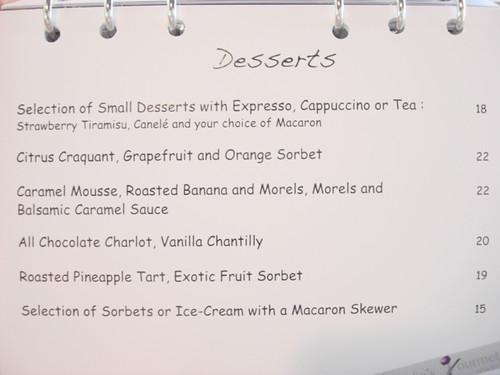 Nathalies Gourmet Studio - Oct menu 1
