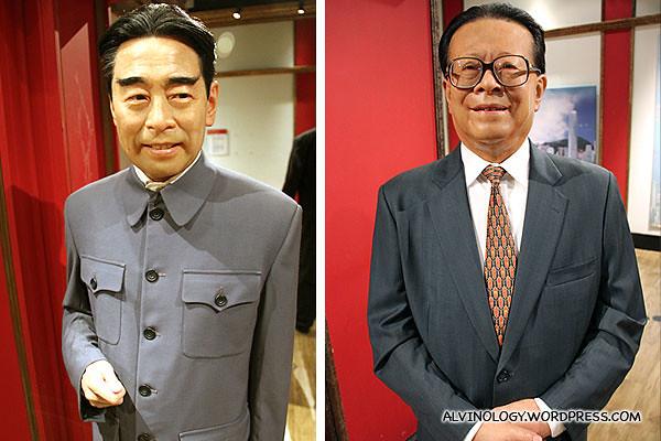 Zhou Enlai and Jiang Zemin