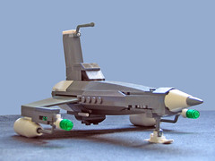 "Warfare Aeronautics DS-1 ""Swordfish"" Mk I (John Lamarck) Tags: lego space starfighter nnenn syfy"