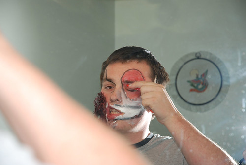 Zombie how-to: using the cheek prosthetic