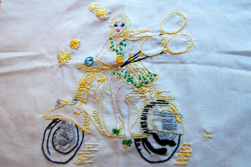 Embroidery in yellow swap