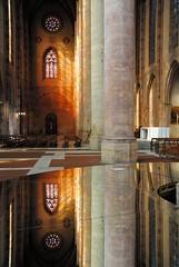 Les Jacobins, la nef (lyli12) Tags: nikon lumire reflet toulouse miroir glise jacobins d3000