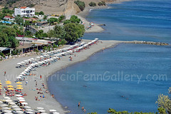 Agia Galini (Patricia Fenn) Tags: bridge blue trees sea summer vacation woman sun holiday man men beach swim umbrella canon river palms relax island greek photography hotel sand women iron europe mediterranean break photographer south relaxing aegean july august tourists september sunbath greece shade crete accommodation libyan sunbeds patriciafenn agiosgallini gettyimagesgreece1 patriciafenngallerycom