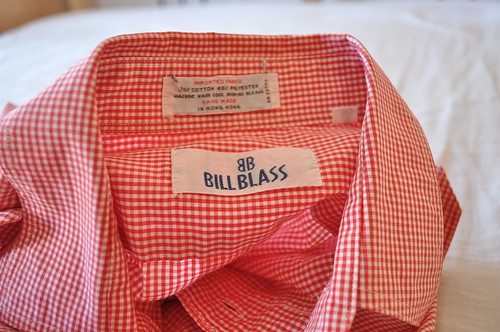 vintage bill blass gingham shirt