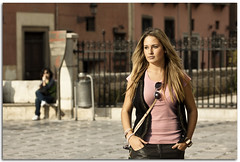 Elena (Antonio Carrillo (Ancalop)) Tags: portrait espaa woman girl canon spain chica retrato andalucia granada blonde rubia mirada 70200l canon70200lf4 nostrobistinfo removedfromstrobistpool seerule2 ancalop