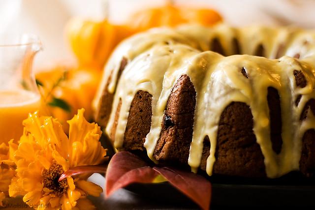 Pumpkin Bundt Cake with Orange Glaze