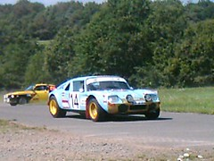 Jide 1600 Proto chased by Opel Kadett GT/E (74Mex) Tags: old by deutschland rally 1600 slowly platte timer sideways opel 2010 proto historics kleine kadett jide gte panzerplatte chased moselland moselwein