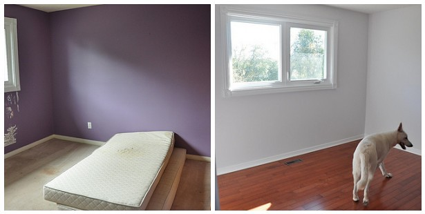 was Hannah's room - before and after