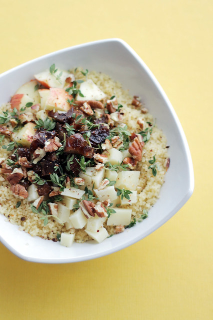 Apples, Dates and Pecorino Cheese Couscous