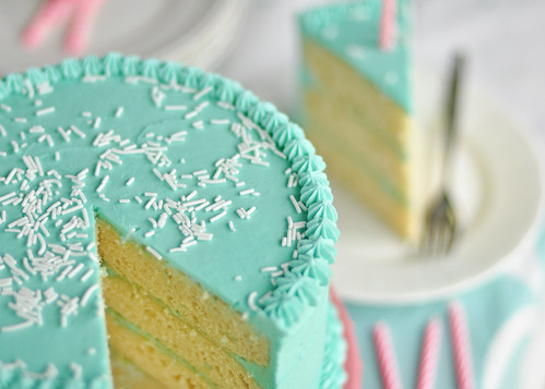 Birthday Cake Sliced