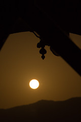My First Silhouette (al-Jazmi) Tags: sun mountain silhouette architecture photoshop canon rebel mosque sultan oman muscat x4 mideast lightroom sultanate   550d ghaleb  masqat t2i jazmi   aljazmi