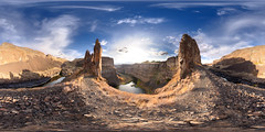 Palouse Canyon (Mantis of Destiny) Tags: sunset panorama cliff landscape washington dangerous desert canyon coulee stitched 360x180 basalt ptgui equirectangular canon15mm nodalninja3 palousecanyon enfuse canon5dmk2 garretveley glaciallakemissoulafloods topazremask2