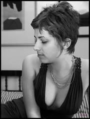 A think of pose (bilalsun) Tags: portrait bw woman girl beauty pose ritratto voluptuous rubenesque bwartaward