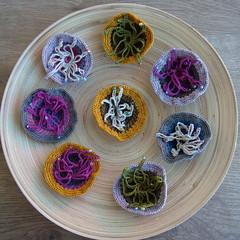Fall collection - Colecção de Outono (saraaires (quartodeideias)) Tags: autumn flower wool pin handmade pregadeira brooch crochet silk outono freeform alfinete saraaires