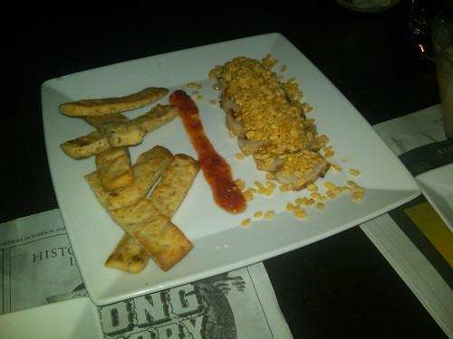 scallops + flat bread