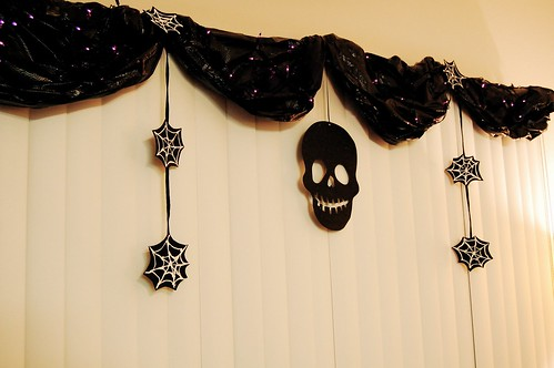 Trash Bag Curtain Decorations