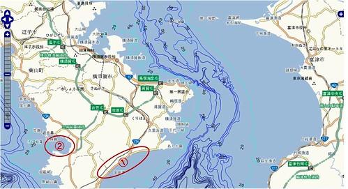 釣りポイント(神奈川県、三浦半島)