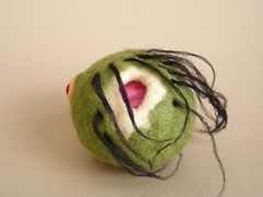 Needle felted zombie head (CreturFetur) Tags: halloween felted toy head zombie sphere horror voodoo needlefelt needlefelted