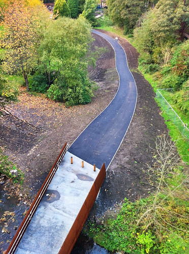 New Ouseburn bridge and path