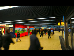 U   B a h n   M u n i c h   4 (  ) Tags: germany underground munich bavaria europe long exposure colours bright transport tube s german u ubahn network munchen bb bahn tran d700 aylward84 bahnnikon