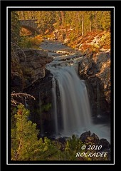 Moose Falls (ROCKADEE_Two With Eagles 1951 / Rockey & Dee) Tags: autumn fall waterfall falls wyoming rockey yellowstonenp moosew naturerules rockadee