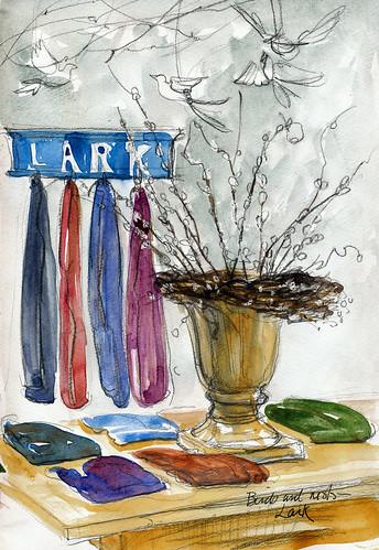Birds and nests: Lark Boutique