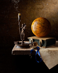 St Christopher and Atlas - Kevin Best (kevsyd) Tags: atlas candlestick stchristopher kevinbest dutchstilllife