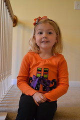 Anna in her Witch shoe shirt