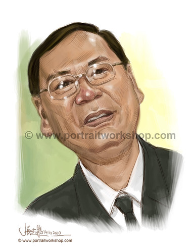 digital portrait illustration of Lee Kim Siang (revised) watermark