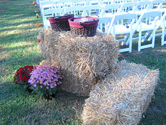 programs and hay bales