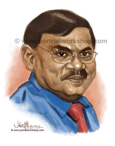 digital portrait illustration of Frankie Thanapal watermark