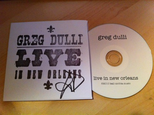 Greg Dulli: Live In New Orleans tour CD