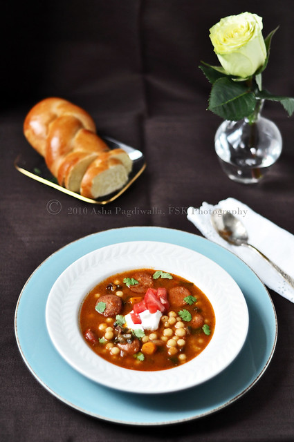 Lebanese Soup with Moghrabieh 4
