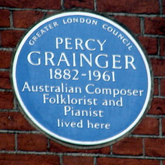 Photo of Percy Grainger blue plaque