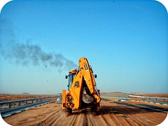 Construction (++ i ++) Tags: blue sky construction sand desert machine pollution excavator colorphotoaward
