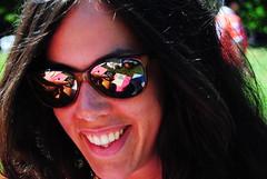 DSC_3486 (antonio_domenico) Tags: summer portrait girl smile sunglasses yellow nice friend sara sorriso sole bocca viso dente ridere denti