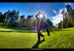 #298/365 Golf Player (iPh4n70M) Tags: sun paris france green golf photography star soleil photo nikon photographer photographie vert player fisheye photograph tc 365 nikkor 16mm hdr golfer toile photographe yvelines 9xp golfeur d700 9raw tcphotography ph4n70m iph4n70m tcphotographie