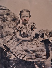 Frowning Girl, 1/9th-Plate Ruby Ambrotype, Circa 1861 (lisby1) Tags: portrait fashion century vintage children photography early 19thcentury 1800s victorian tintype ambrotype daguerreotype edwardian geneology 19th earlyphotography nineteenthcentury privatecollection