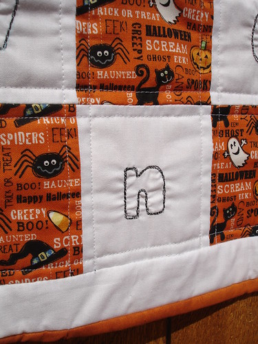 Halloween Mini Quilt - Detail