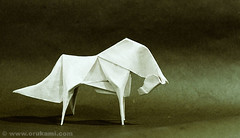 Fabian Correa Gomez Origami Horse (Himanshu (Mumbai, India)) Tags: sculpture horse india art wet animal modern paper caballo cheval model origami handmade contemporary craft fabian mumbai cavallo gomez folding correa himanshu orukami