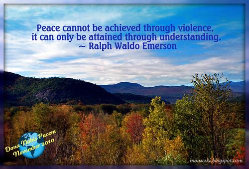 Peace Globe November 2010