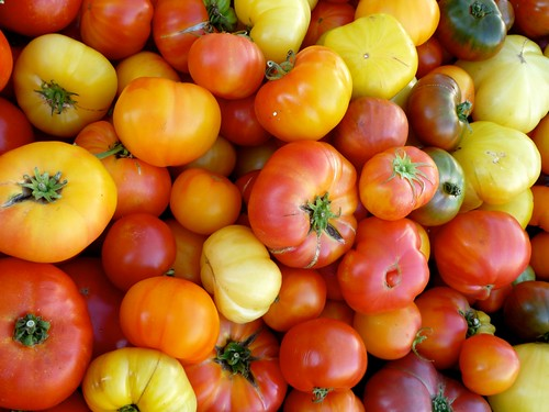 heirloom tomatoes from Little Italy Mercato