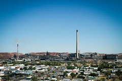 Mount Isa, Queensland, Australia. (Marie-Laure Even) Tags: voyage travel autumn red chimney white fall automne silver bush mine factory gulf view desert stripes country australian may australia roadtrip mount mai mines queensland copper outback australien camper lead isa commonwealth usine zinc 2007 australie désert the oceania mountisa océanie commonwealthofnations marielaureeven