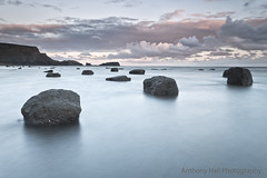 Saltwick Nab (Azzmataz) Tags: clouds sunrise bay rocks long exposure nab saltwick anthonyhallphotography